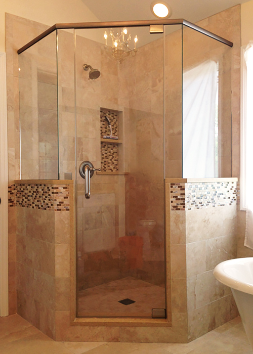 Neo-Angle Shower Doors (Corner Shower) - Manalapan, NJ | ShowerMan.com