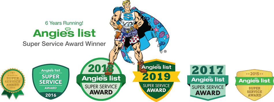 ShowerMan Angie'sList Super Service Awards, 2014-2019